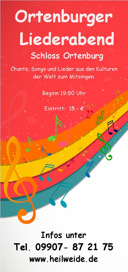 Ortenburger Liederabend  23. Februar 2014  flyer vorderseite din a6 lang ohne datum